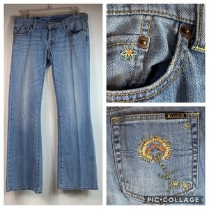 Lucky Brand Lil Maggie embroidered boot cut jeans